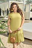 Женское платье летнее Штапель Размер 48 50 52 54 56 58 60 62 64 66 В наличии 5 цветов, фото 2