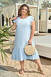 Женское платье летнее Штапель Размер 48 50 52 54 56 58 60 62 64 66 В наличии 5 цветов, фото 3
