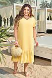 Женское платье летнее Штапель Размер 48 50 52 54 56 58 60 62 64 66 В наличии 5 цветов, фото 4