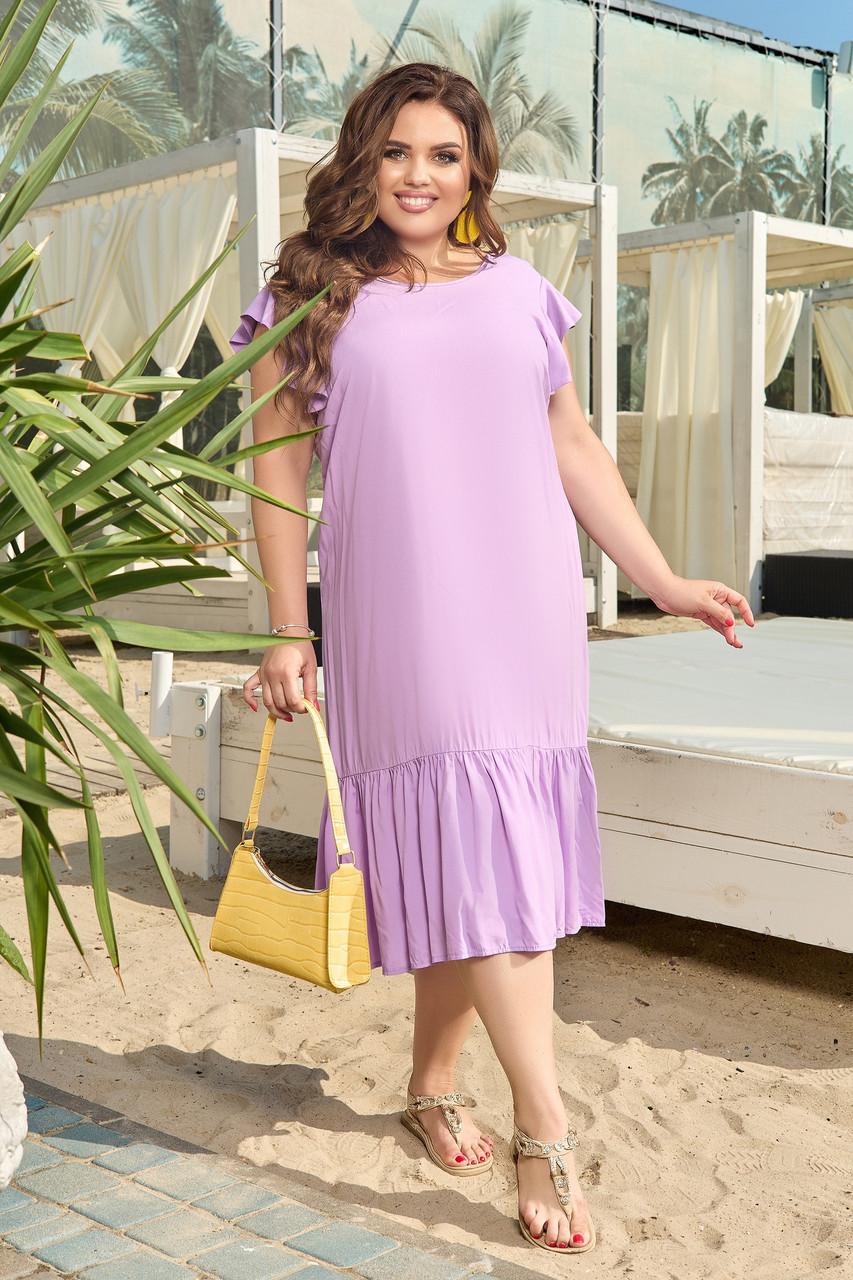 Женское платье летнее Штапель Размер 48 50 52 54 56 58 60 62 64 66 В наличии 5 цветов