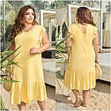 Женское платье летнее Штапель Размер 48 50 52 54 56 58 60 62 64 66 В наличии 5 цветов, фото 8