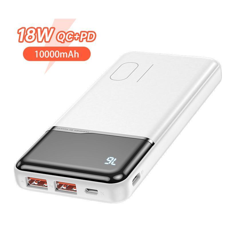 Оригінальний Power Bank KUULAA KL-YD01Q 10000 маг 18 Вт PD з White LED індикацією