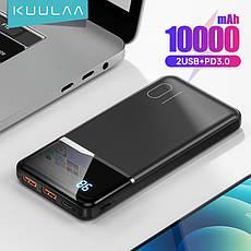 Оригінальний Power Bank KUULAA KL-YD01Q 10000 маг 18 Вт PD з White LED індикацією, фото 2
