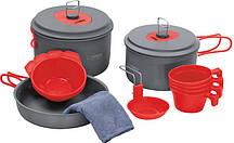 Набір посуду Terra Incognita Quatro Сірий з червоним (TI-QUATRO)