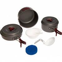 Набір похідного посуду Tramp TRC-026 з анодованого алюмінію