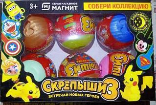 ОПТ!! НОВИНКА!! Скрепыши в кульках 3 сезон, фігурки героїв. 22х7х14.5 см 6 шт в упаковці