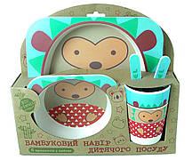 Набір дитячого посуду Stenson MH-2770-21 їжачок 5 предметів (010867)