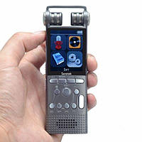 Профессиональный диктофон цифровой с линейным входом Savetek GS-R06 8 Гб памяти Серый (100084)