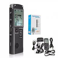 Цифровой диктофон с активацией голосом и LCD экраном Doitop T60 16 Гб памяти (100322)