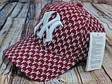 Мужская женская бейсболка кепка нью йорк черная белая, фото 2