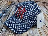 Мужская женская бейсболка кепка нью йорк черная белая, фото 3