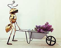 Фігурка Декоративна для саду VITANDE Мураха з тачкою 45 см бронзовий (VAD-003)