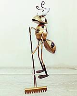 Фігурка Декоративна для саду VITANDE Мураха з граблями 45 см бронзовий (VAD-001)