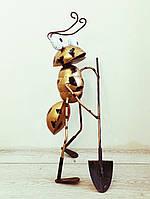 Фігурка Декоративна для саду VITANDE Мураха з лопатою 45 см бронзовий (VAD-004)