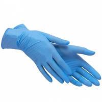 Рукавички Нітрилові Неопудрені Mercator Medical Nitrylex comfort M Blue 100шт