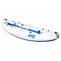 Надувна байдарка одномісна Човен ЛБ-300 Чайка базова 3 м з насосом Сіро-синя (lad_ЛБ-300)