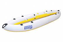 Надувна байдарка одномісна Човен ЛБ-300У Турист базова 3 м з насосом Світло-жовта (lad_ЛБ-300УЖ)