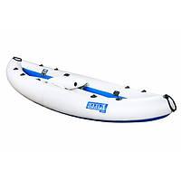 Надувна байдарка одномісна Човен ЛБ-300 Чайка стандарт 3 м надувна подушка комплект колінних упорів насос