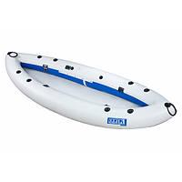 Надувна байдарка одномісна Човен ЛБ-300Н Рибальське базова 3 м з насосом Сіро-синя (lad_ЛБ-300Н)