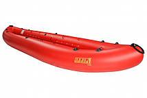 Надувна байдарка двомісна Човен ЛБ-400-2 Чайка базова 4 м з насосом Червона (lad_ЛБ-400-2БК)