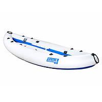 Надувна байдарка одномісна Човен ЛБ-300 Чайка базова 3 м з насосом Сіро-синя (lad_ЛБ-300Б)