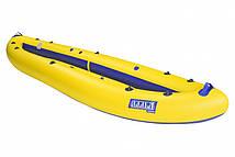 Надувна байдарка двомісна Човен ЛБ-400К Караван базова 4 м з насосом Жовто-синя (lad_ЛБ-400КБЖ)