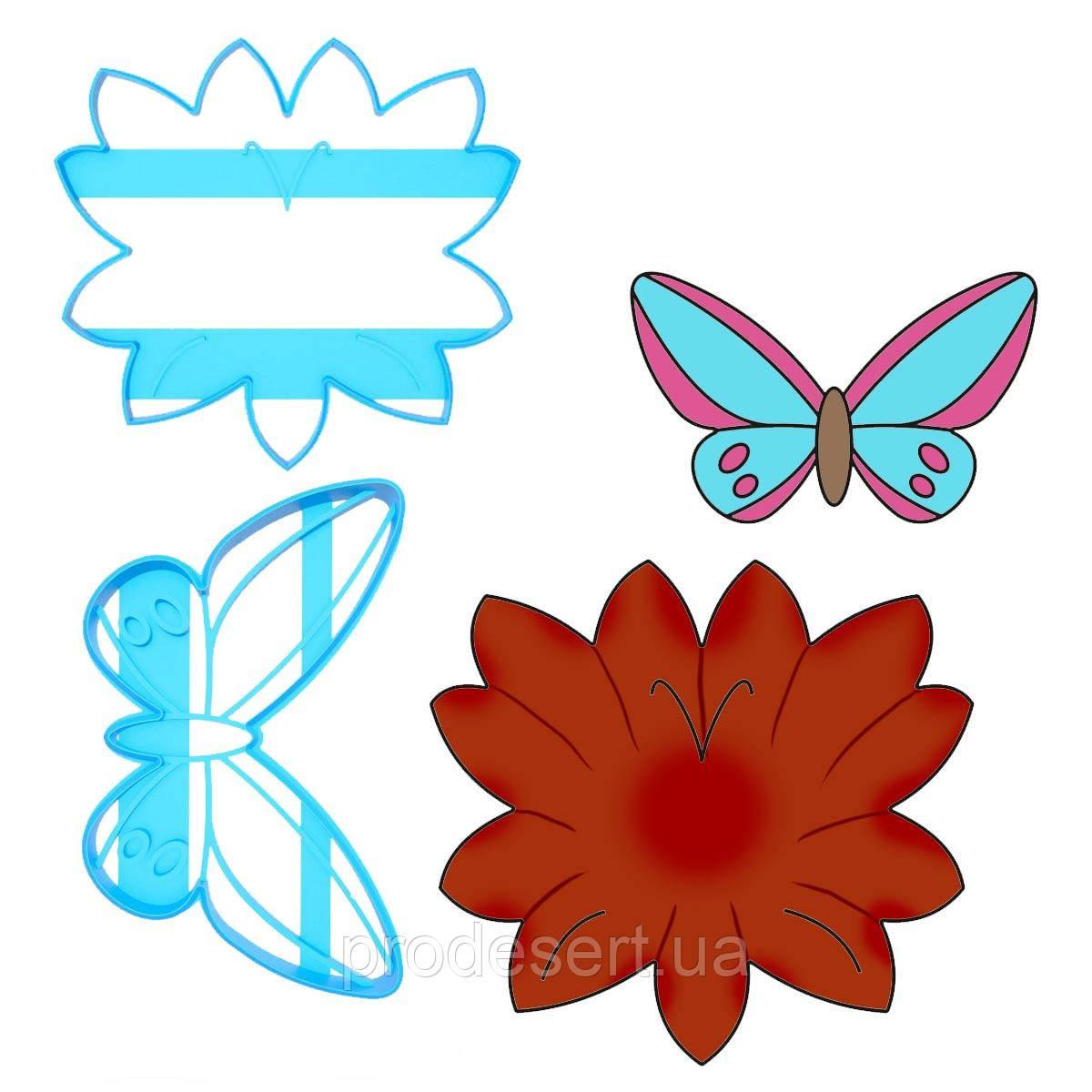 Набір вирубок для пряників Метелик 12*13см на Листочку 6*9,7 см (3D)