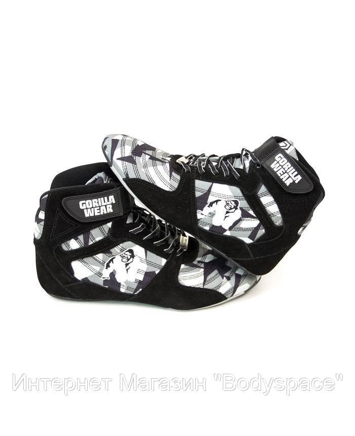 Gorilla Wear, Кроссовки Perry High Tops Pro - Black/Gray Camo, Камуфляж, 41