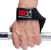 Gorilla Wear, Лямки для тяги на зап'ястя Non-Padded Straps Black, Чорний, One saze, фото 1