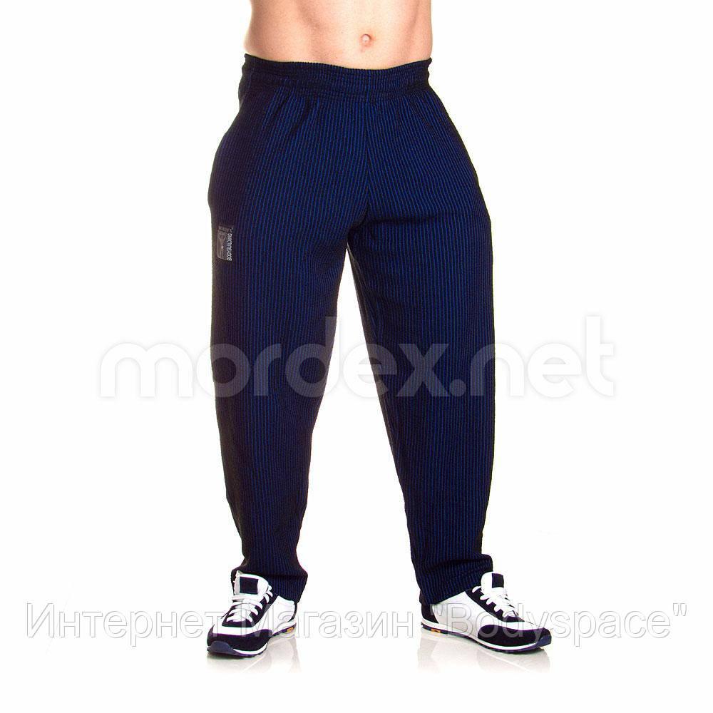 Mordex, Штаны спортивные зауженные Mordex черный/синий MD3600, Черный/синий, M