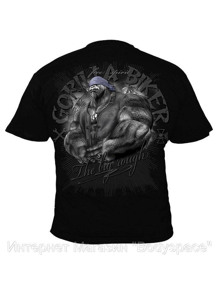 Silberrucken, Футболка GB42 Gorilla Biker Free Spirit, Черный, L