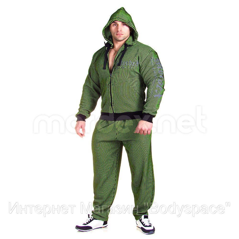 Mordex, Костюм спортивний MD5153-1 A чорний/зелений, Чорний/зелений, XL