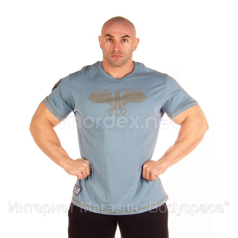 LegalPower, Футболка для бодібілдингу Eagle, блакитний, Голубий, M