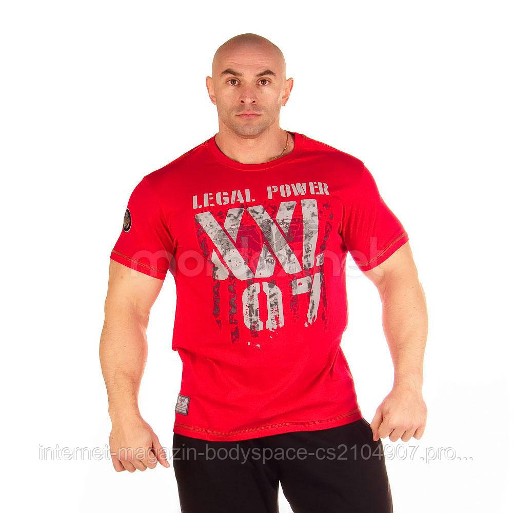 LegalPower, Футболка для бодібілдингу XXL 97 Eagle, червоний, Червоний, M