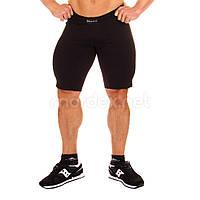 Mordex, Шорти спортивні стрейчеві Mordex MD5416, чорні, Чорний, XL, фото 1