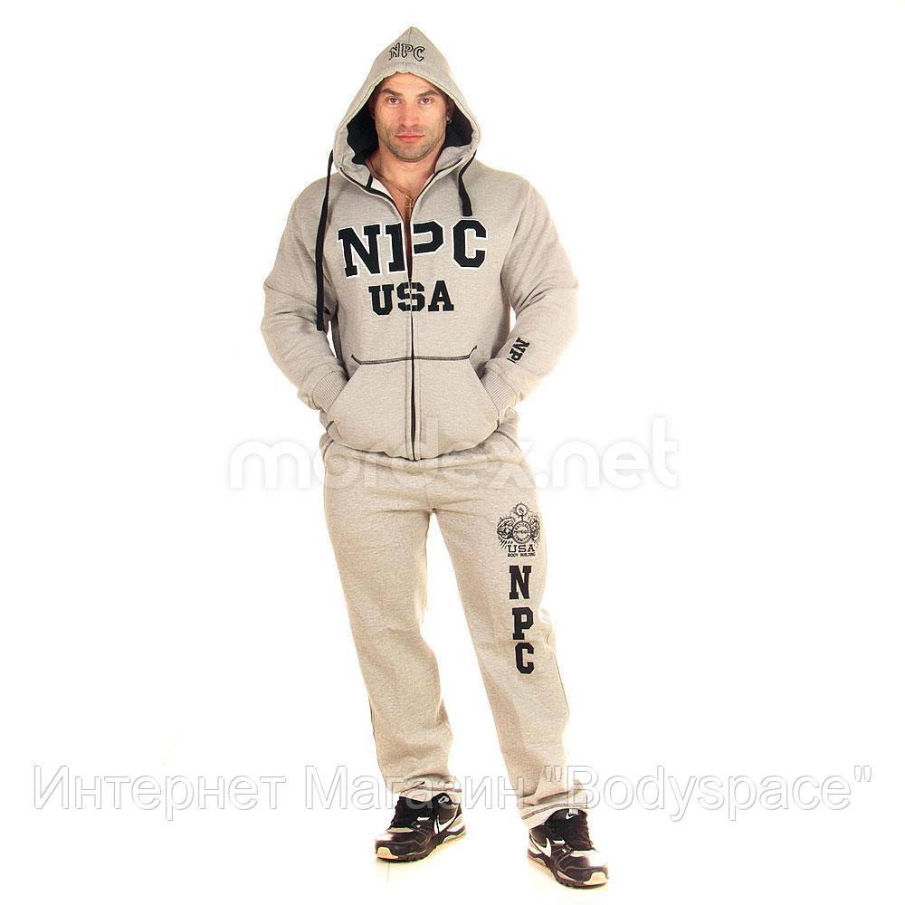 NPC, Костюм спортивный теплый NPC USA Fleece Suit, светло-серый