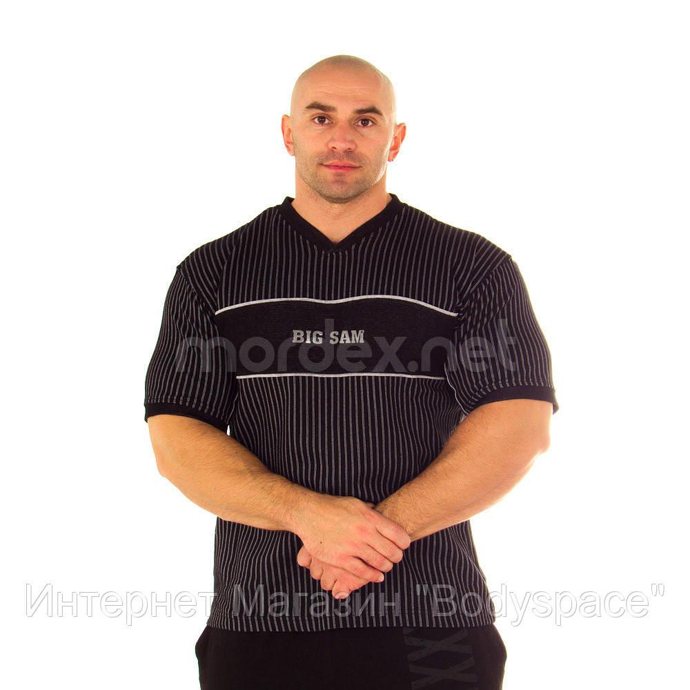 Big Sam, Футболка для бодибилдинга 2572 T-SHIRT, Черный/серый, L