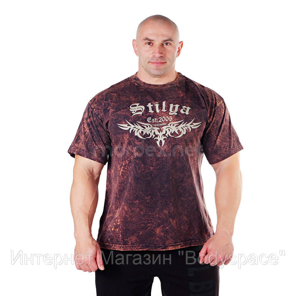 Big Sam, Футболка Bodybuilding Mens T-Shirt 2857, Коричневий, M
