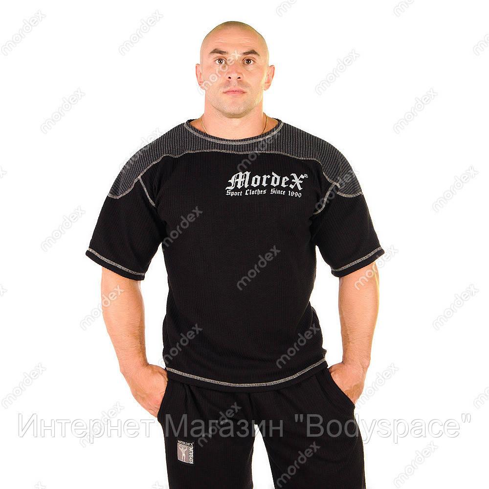 Mordex, Размахайка наружный оверлок Gym Sport Clothes MD6148 черно-серая, Черный/серый, M