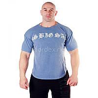 Big Sam, Размахайка Cotton Wide Cut T-Shirt 3179, Синий, M