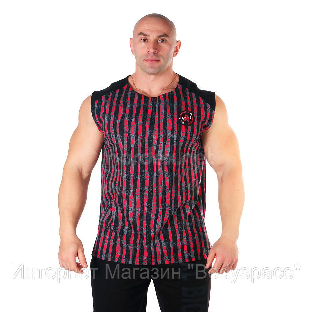 Big Sam, Футболка Bodybuilding Mens T-Shirt 2311 Чорно\ красная, Черный/красный, M