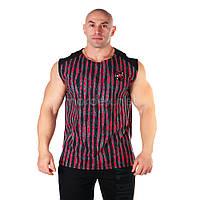 Big Sam, Футболка Bodybuilding Mens T-Shirt 2311 Чорно\ красная, Черный/красный, M, фото 1