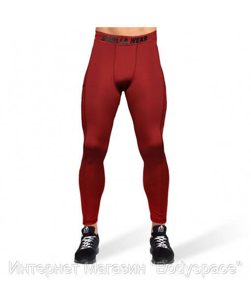 Gorilla Wear, Легінси для тренувань Smart Tights Burgundy Red, Бордовий, M