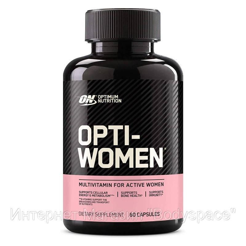 Optimum Nutrition, Вітаміни Opti-Women (women's Multiple), 60 капсул, 60 капсул