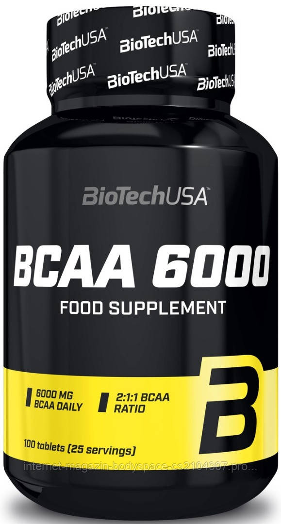 Biotech USA, Бцаа BCAA 6000, 100 таблеток, 100 таблеток