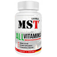 MST Sport Nutrition,Витамины AllVitamins Клубничные, 120 таблеток