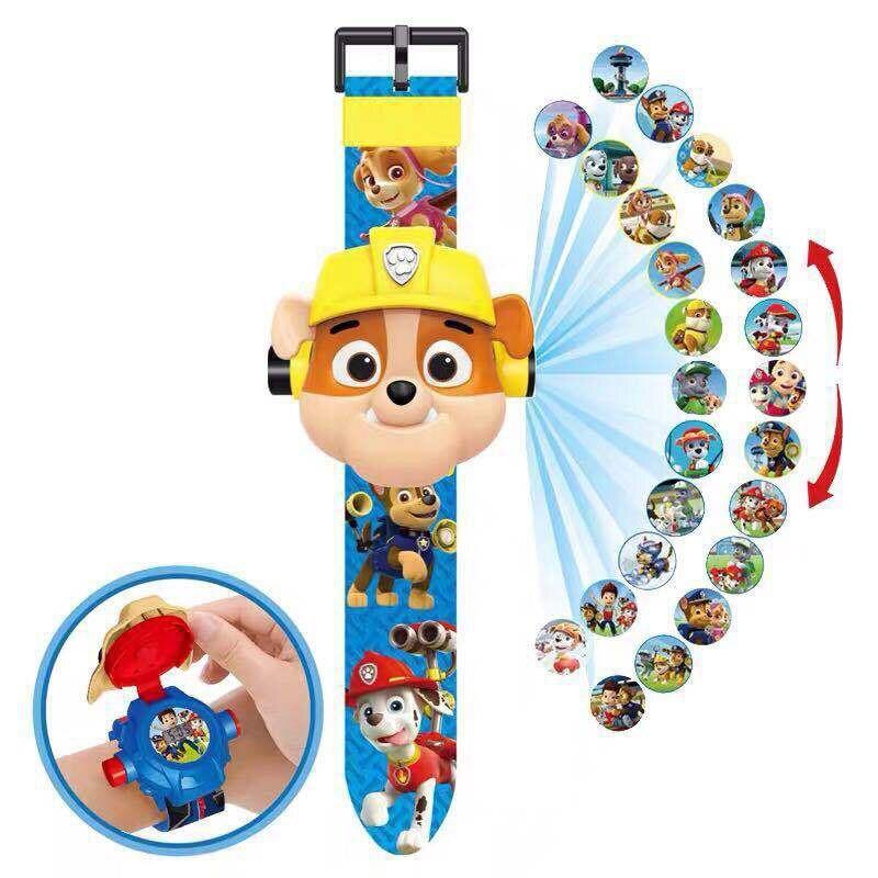 """Дитячий наручний годинник з 3d проектором """"Щенячий патруль (Paw Patrol)/ Кремеза, Крепиш"""""""