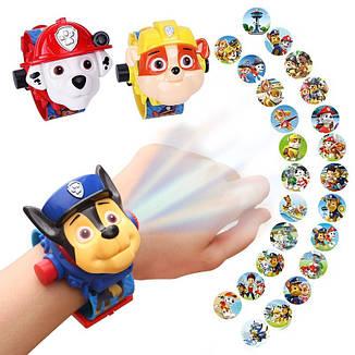 """Дитячий наручний годинник з 3d проектором """"Щенячий патруль (Paw Patrol)/ Кремеза, Крепиш"""", фото 2"""