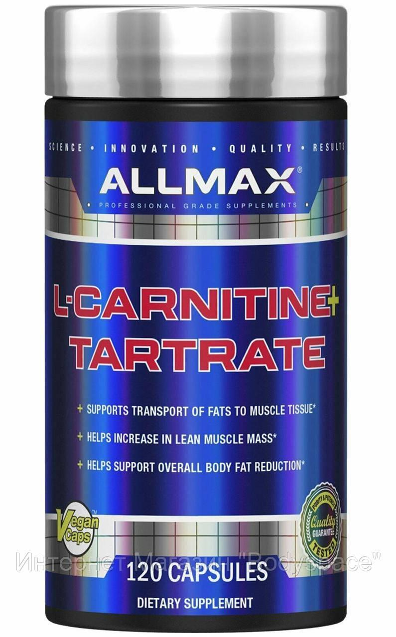 AllMax Nutrition, для Схуднення L-Carnitine-Tartrate 120 капсул, 120 капсул