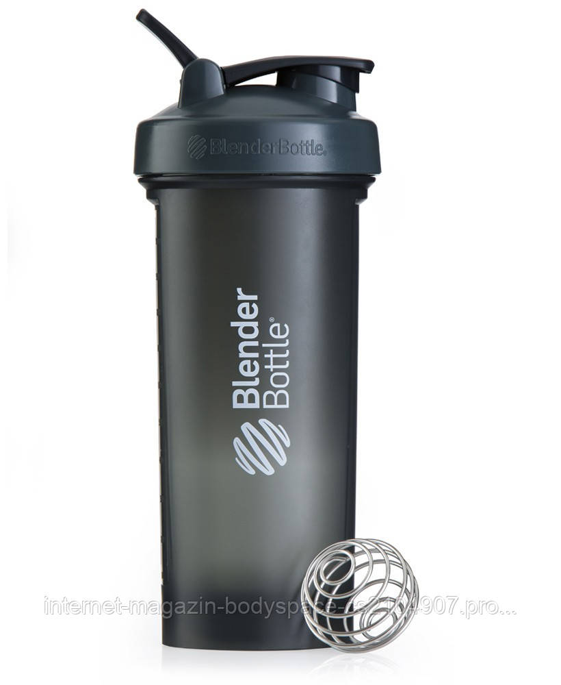 Blender Bottle, Спортивный шейкер BlenderBottle Pro45 Gray & White, 1300 мл, Серый/белый, 1300 мл